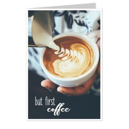 wenskaarten But first, coffee