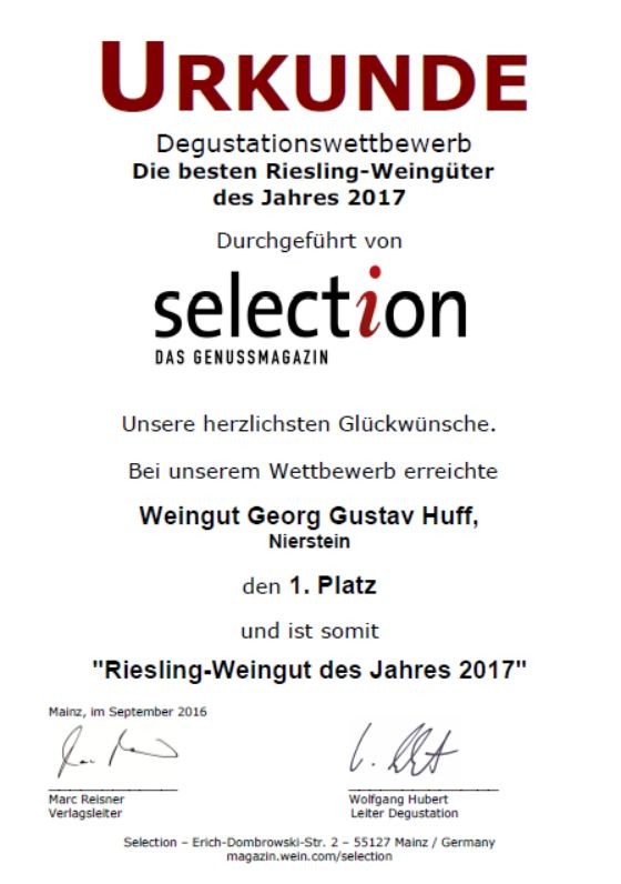 Weingut Georg Gustav Huff Riesling Pettenthal 2015