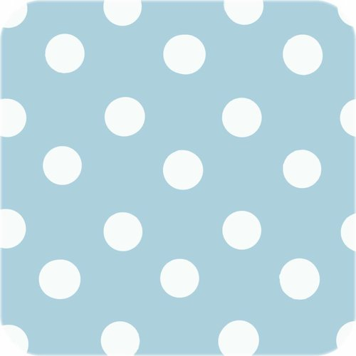 Tafelzeil Eco lichtblauw-wit grote stip 2M