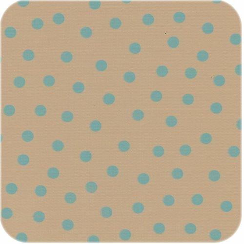 Tafelzeil op rol beige lichtblauwe stippen