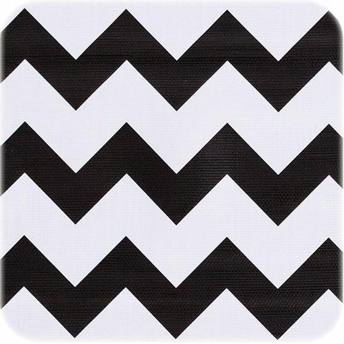 Tafelzeil op rol Zigzag zwart rol 11m x 1,20m