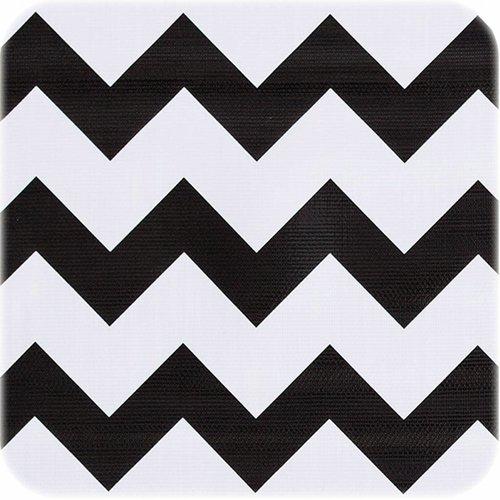 Tafelzeil 3m zigzag zwart