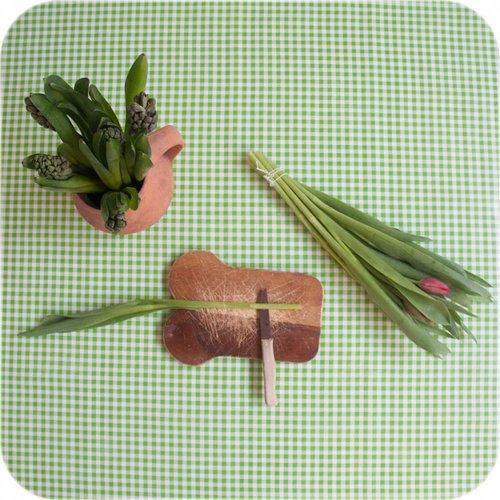 Tafelzeil 2m ruit limoen groen