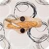 MixMamas Gecoat tafellinnen op rol 25m x140cm Painted Circles