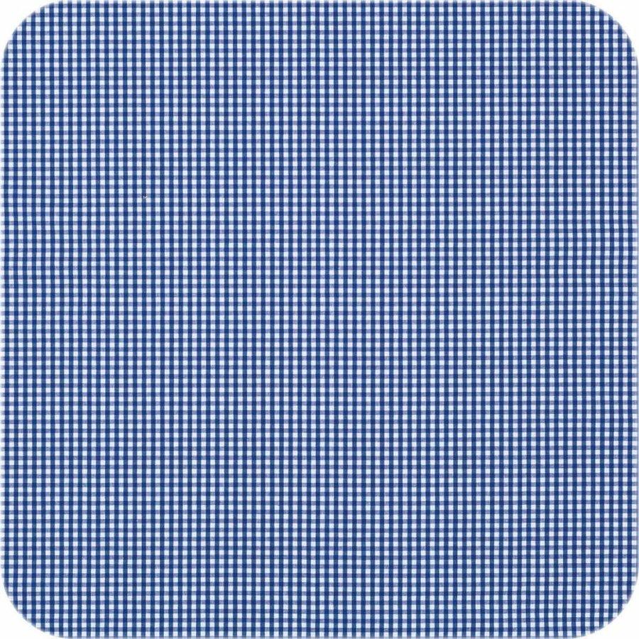 Gecoat tafelkleed 2,5m Ruitje donkerblauw 1,6m breed