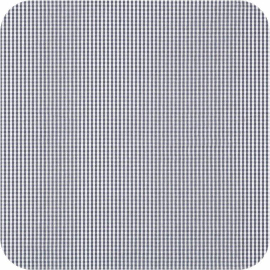 Gecoat tafelkleed 2,5m Ruitje grijs 1,6m breed