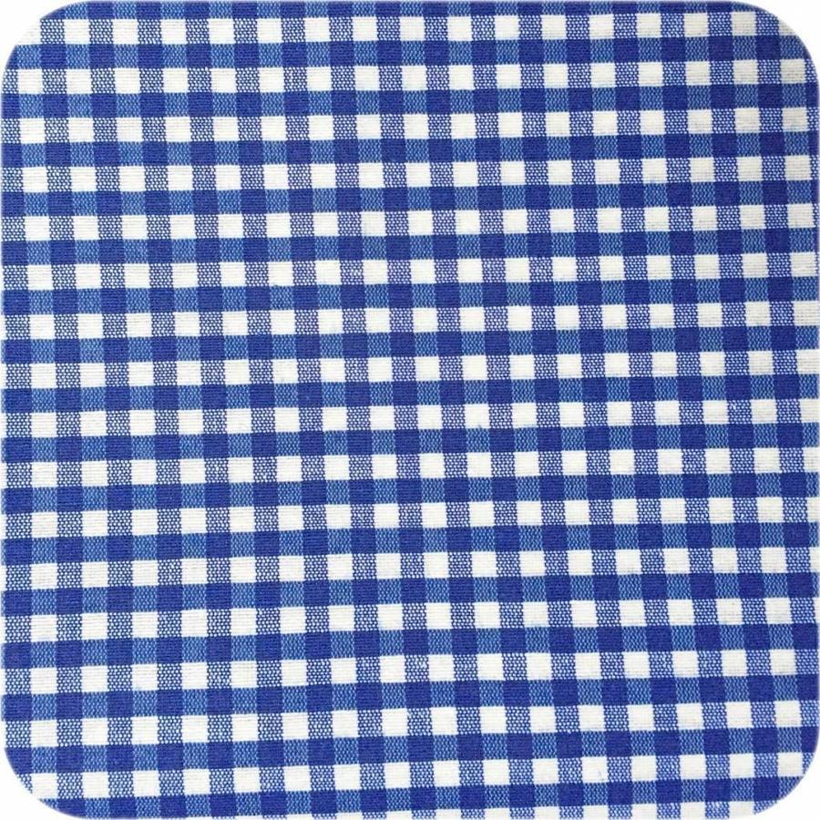 Gecoat tafelkleed 2m Ruitje d-blauw 1,6m breed