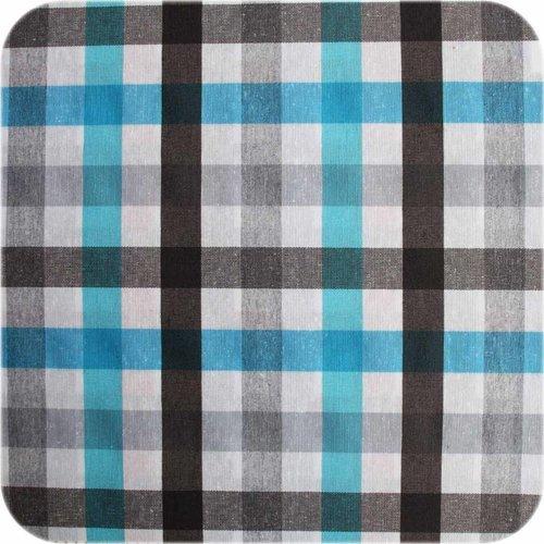 Gecoat tafelkleed 2,5m picnick blauw zwart