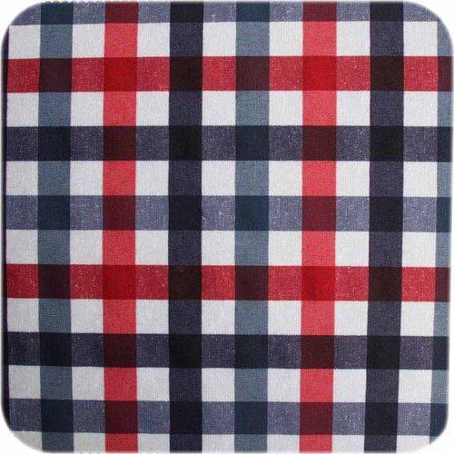 Gecoat tafelkleed 2,5m picknick ruit roodblauw