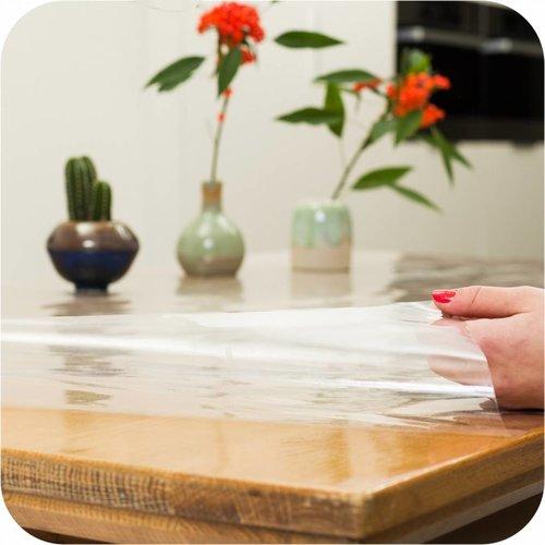 Transparant tafelzeil 3m bij 140cm op grote rol