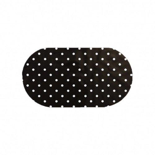 Tafelzeil Eco zwartwit grote stip Ovaal 200 cm