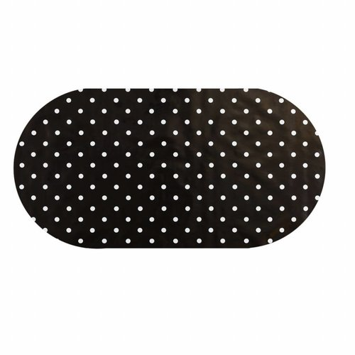 Tafelzeil Eco zwartwit grote stip Ovaal 250 cm