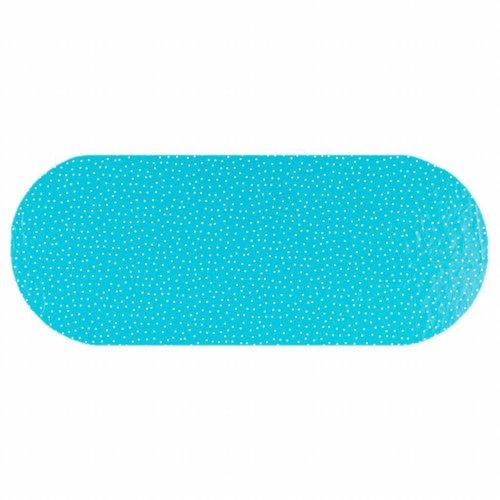 Tafelzeil Eco Ovaal Blauw met witte stipjes 300 cm