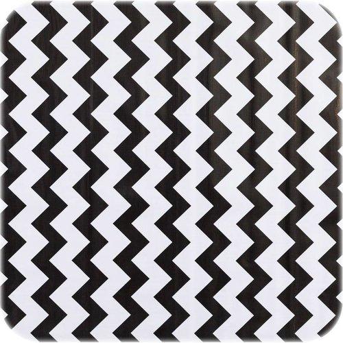 Tafelzeil 270 cm Zigzag zwart