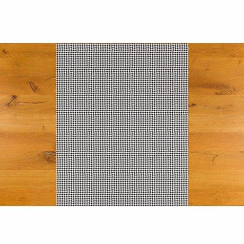 Tafelzeil Biertafel Eco Pied de Poule zwart op rol 5m bij 70cm
