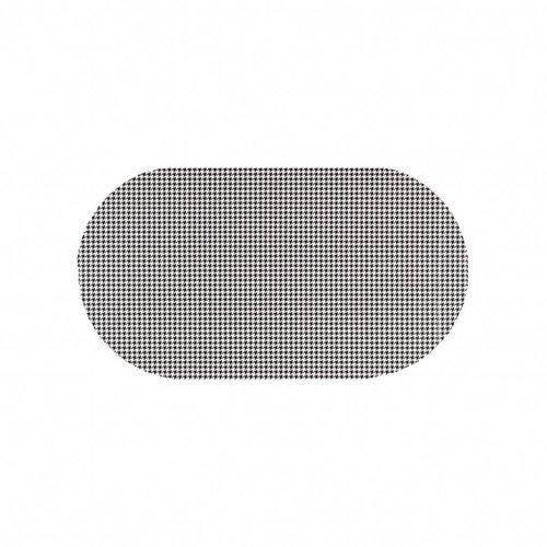 Tafelzeil Eco Pied de Poule zwart Ovaal 200 cm