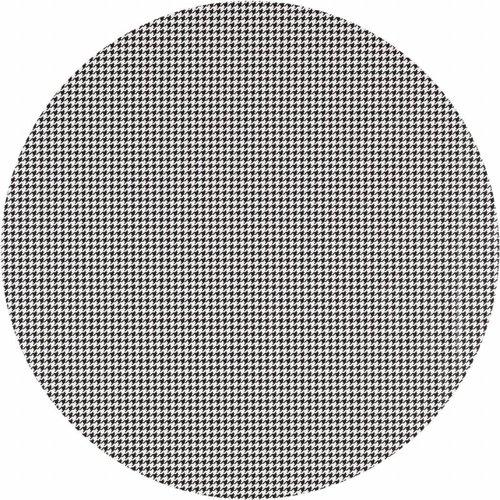 Tafelzeil Eco Rond Pied de Poule zwart 140cm