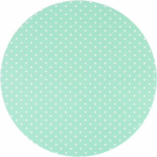 Tafelzeil Rond - Ø 120 cm - Stippen -  Mintgroen/Wit