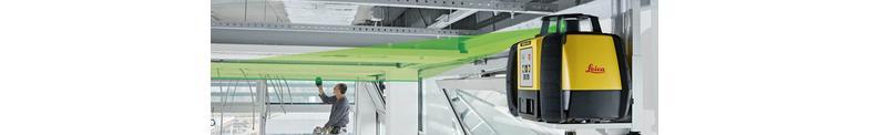 Rotatie lasers met groene laserstraal speciaal voor interieurwerk.