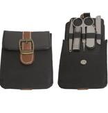 Manicure set zwart/bruin