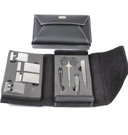 Manicure-set zwart envelope