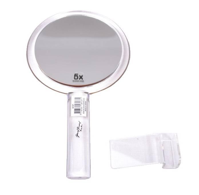 Make-up Handspiegel acryl Ø13cm/5x vergroting| Badkamer Spiegel