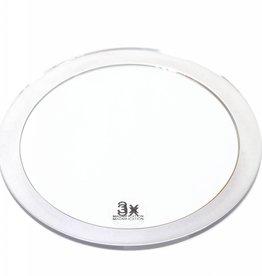 Zuignapspiegel Ø13cm/3x vergroting | Badkamer Spiegel