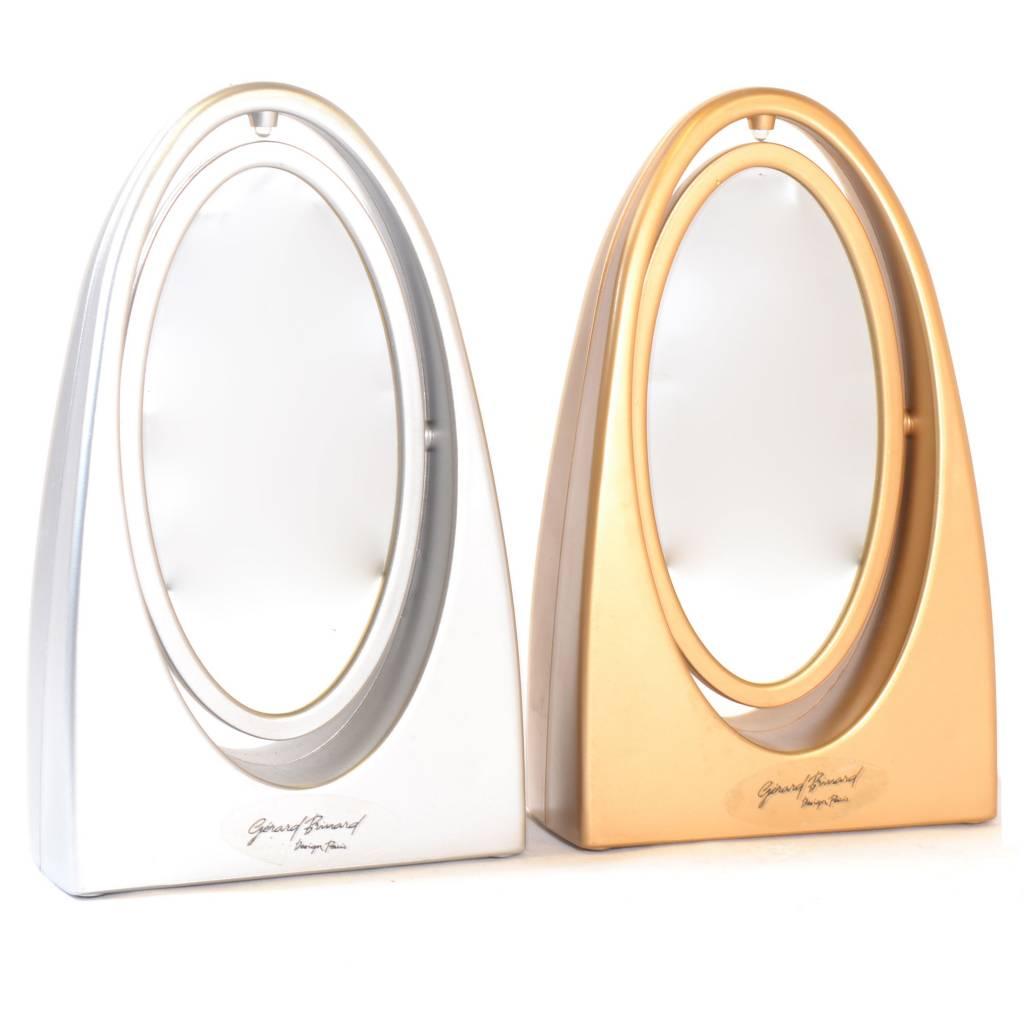 make up spiegel met licht goud zilver gerardbrinard. Black Bedroom Furniture Sets. Home Design Ideas
