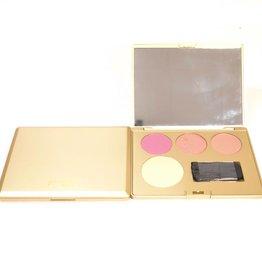Blusher 4 kleuren in gouden doosje