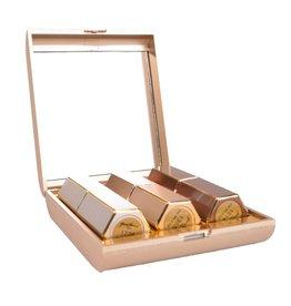 Lipstick 3 stuks in gouden doosje