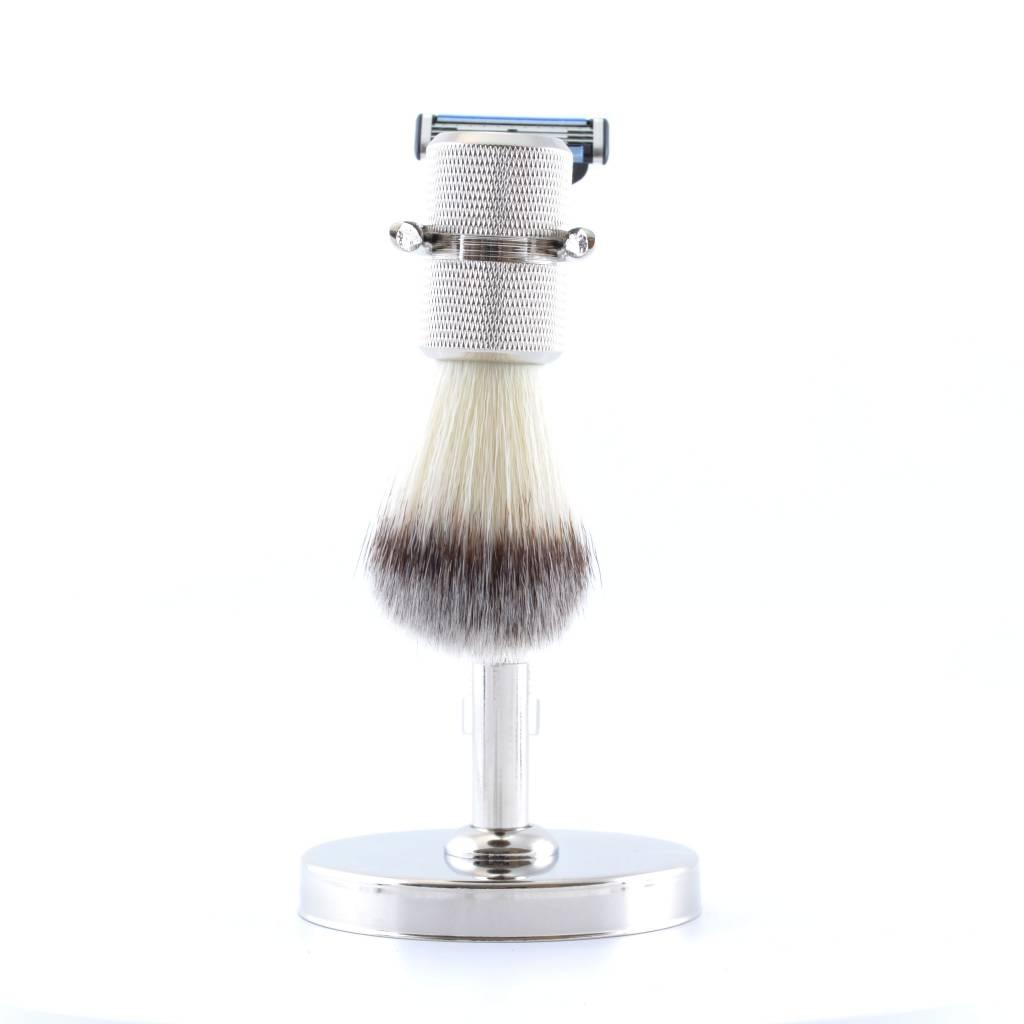 Luxe Scheerset Zilver Synthetisch