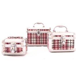 Beautycase Set Ruit 3 stuks- Roze
