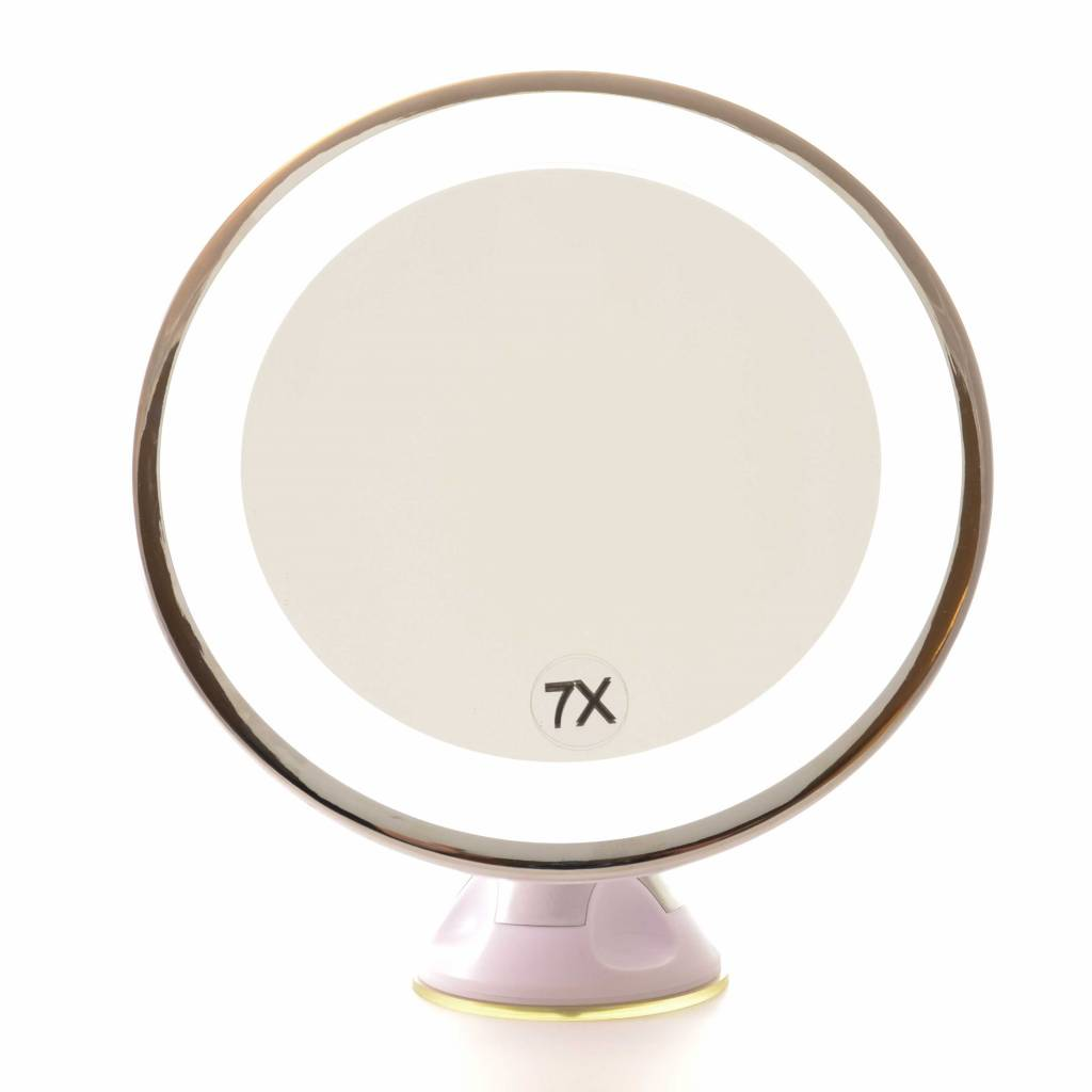 Zuignap Spiegel LED 7x vergroting | Badkamer Spiegel - GerardBrinard