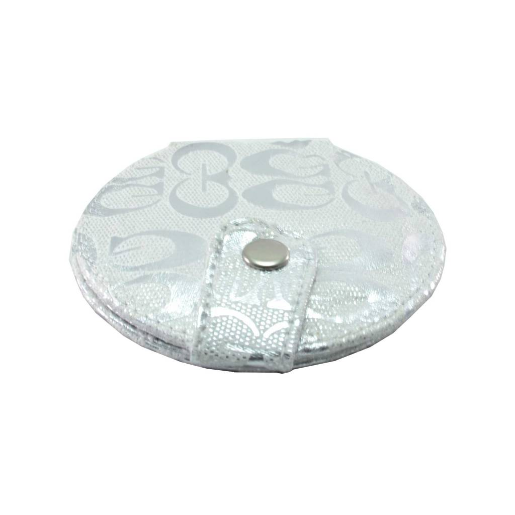 Make-up Tasspiegel metallic zilver, spiegel, tas, opmaken