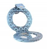 Tasspiegeltje blauw hartjes print, spiegel, opmaken, beauty