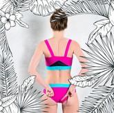 LIGURIA - Bikini-Unterteil pink/türkis