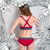 LIGURIA - Bikini-Unterteil bordeaux/grau