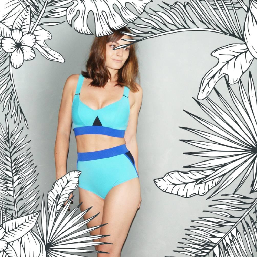 MARINELLA - Bikini-Oberteil türkis/dunkelblau
