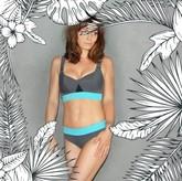 MARINELLA - Bikini-Oberteil grau/türkis