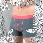 CALICO Boxershorts dunkelgrau/rot