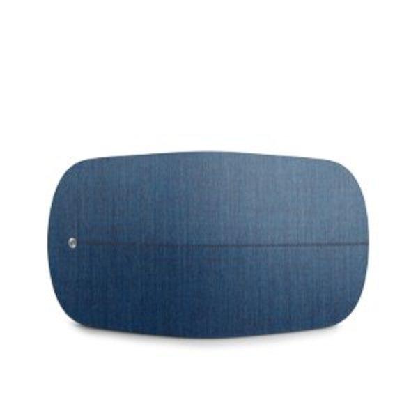 Kvadrat dekking in stoffige blauw