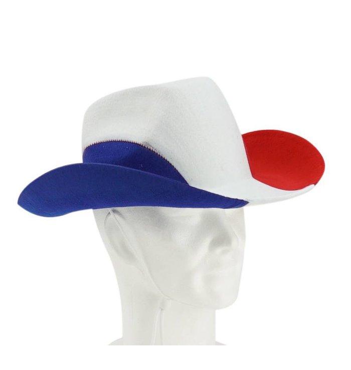 Cowboy hat blue-white-red