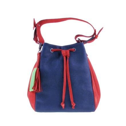 Blue/red shoulder bag - BAG 4707