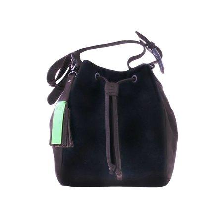 Zwart/taupe schoudertas - BAG 4707