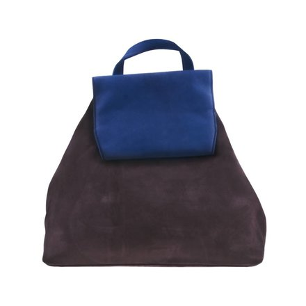 Bruin/blauwe backpack - BAG 4705