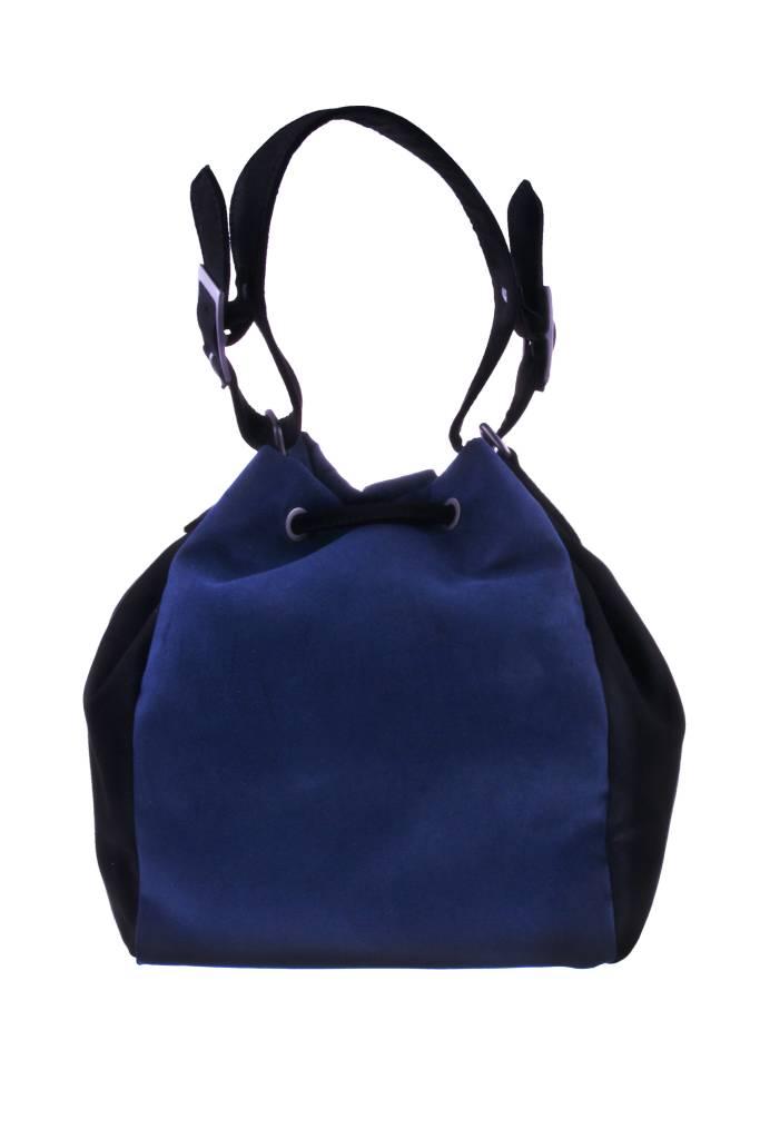 PRETTY&FAIR Zwart/blauwe schoudertas - vegan - BAG 4707-VBAG 4707