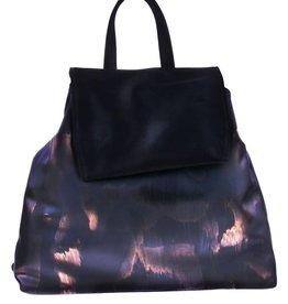 Black combat backpack - vegan - BAG 4705-V