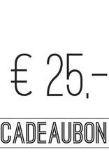 Gift card €25,-
