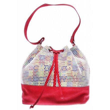Colorful red shoulder bag - vegan - BAG 2210-V