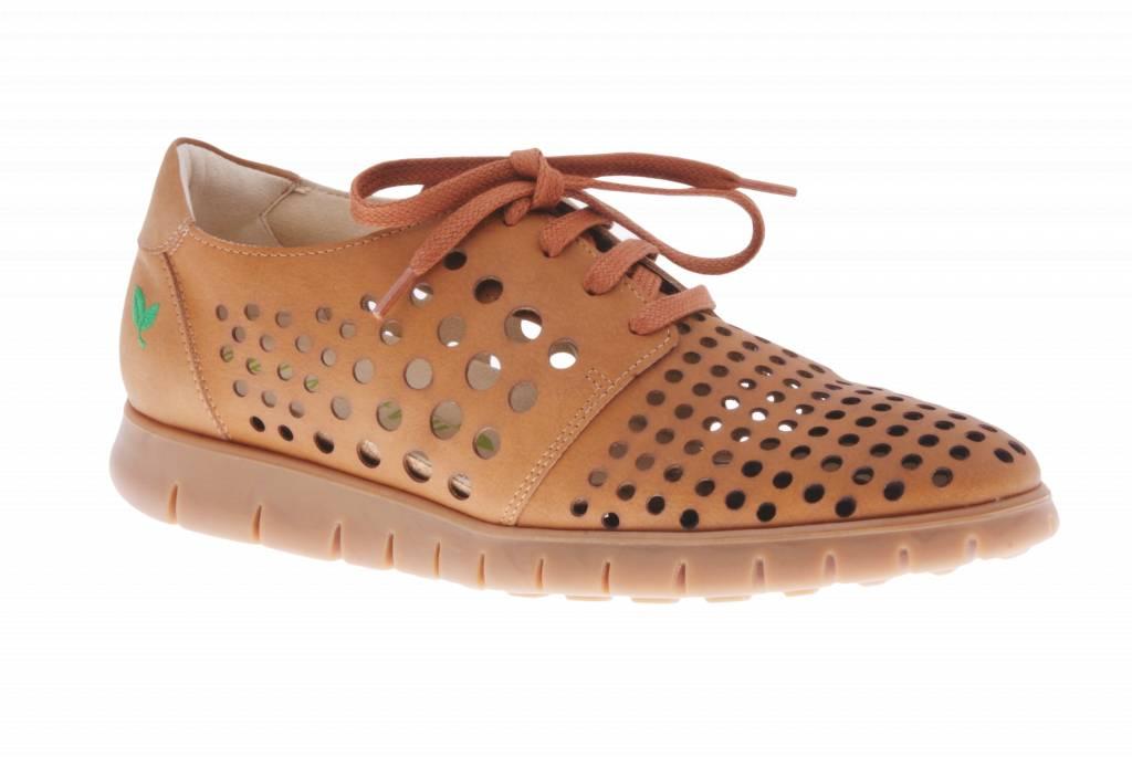 Cognac sneaker - vegan -  Dalia Cognac - PF2010-V from PRETTY&FAIR